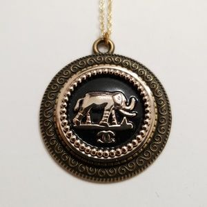 Re-proposed Auth Chanel Button Made into necklace.